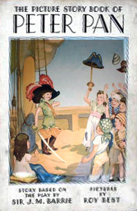 1934 edition? of The Picture Story Book of Peter Pan, reconstructed from two images found online
