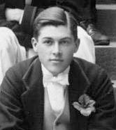 Davies in his last year at Eton in 1912 at age 19