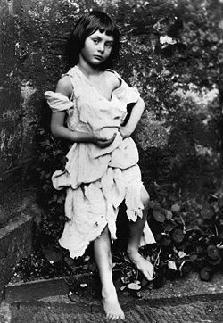 Photo of Alice Liddell taken by Dodgson (1858)