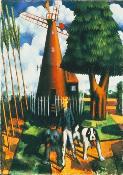 Gilbert Cannan and his Mill by Mark Gertler - also features Luath, the model for Nana