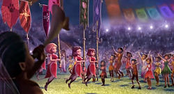 scene from the trailer for Tinker Bell and the Pixie Hollow Games