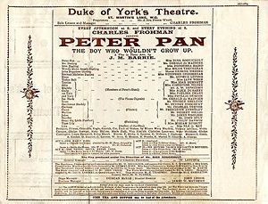 program for the 1904 production at the Duke of York's Theatre