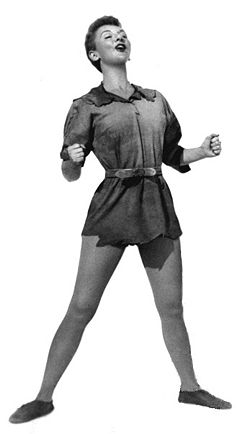 Publicity Photo Of Mary Martin As Peter Pan