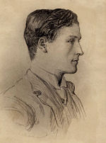 Arthur, drawn by future father-in-law George du Maurier in 1890