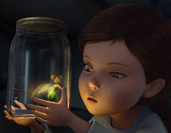 Tinker Bell is captured by a girl