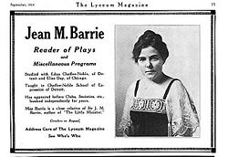 business advertisement of one Jean M. Barrie