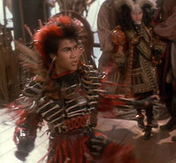 Rufio battling with Captain Hook